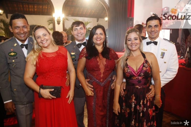 Cel Rocha e Carolina Pontes, Cel Giarola e Marcia Giarola, Luciana e Cmte Alexandre Silva