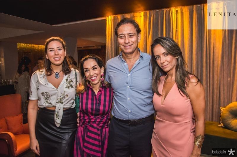 Bia Bezerra, Marcia Tavora, Sergio Bezerra e Alessandra Bezerra