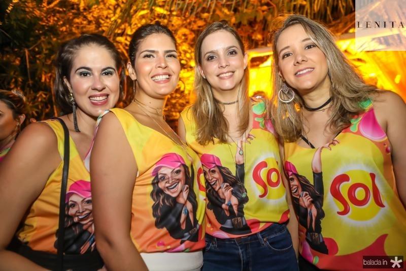 Amanda Viana, Karina Jales, Andreza Pontes e Alice Costa