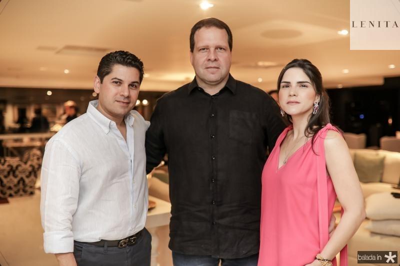 Pompeu Vasconcelos, Edson Ventura Filho e Marilia Vasconcelos