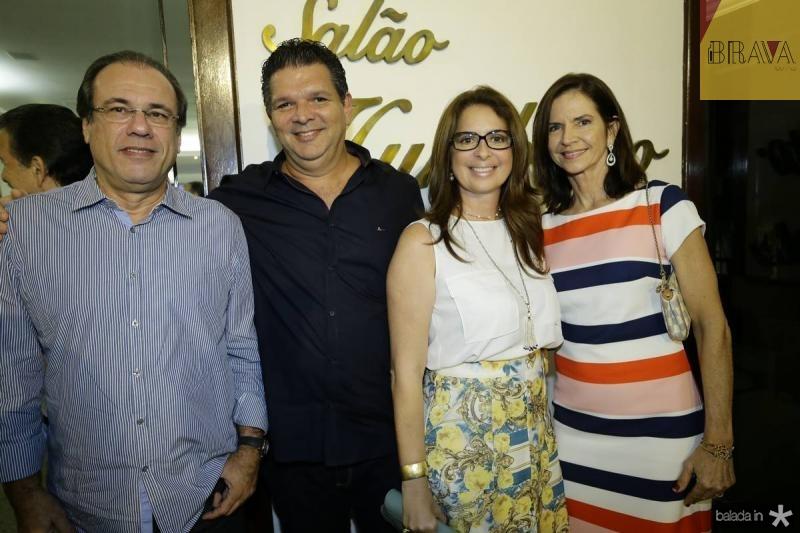 Claudio Brasil, Wicar Pessoa, Marcia Andrea e Cristine Basto