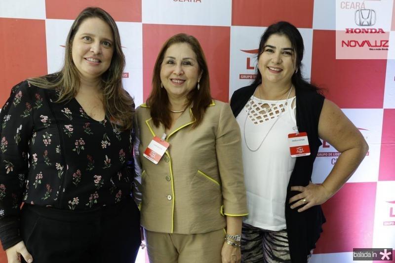 Luciana Colares, Liane Bastos e Angela Patrao