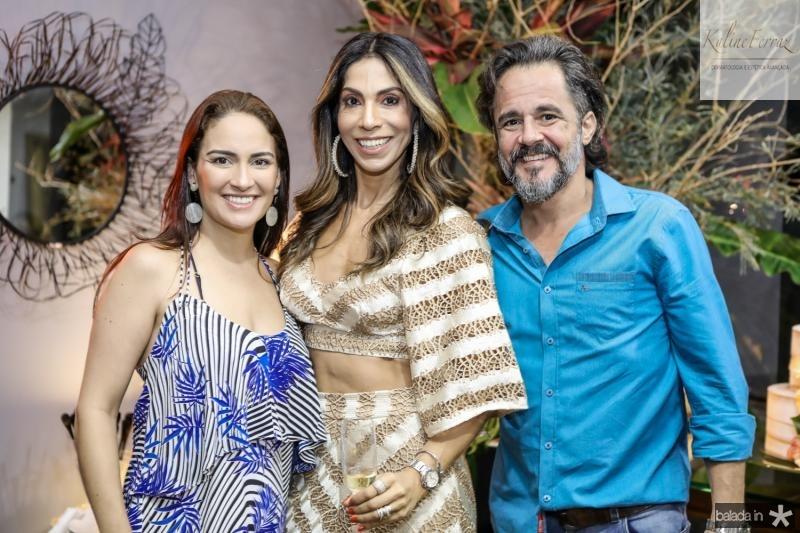 Silvia Brandao, Synara Leal e Carlos Brandao