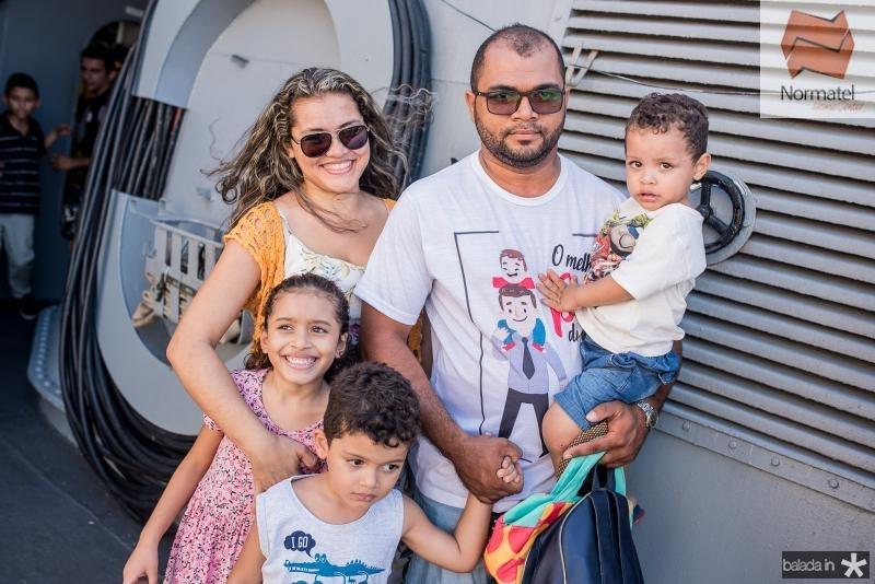 Keila Rodrigues, Lais Matias, Daniel Filho, Daniel Matias e Caio Matias