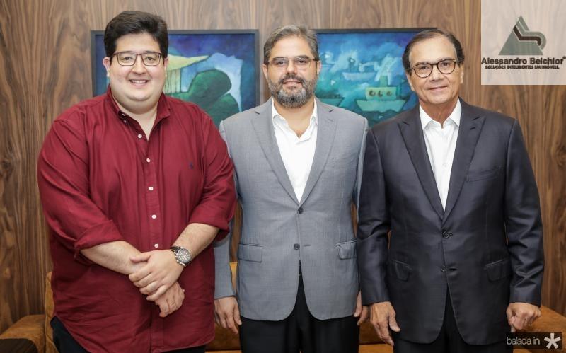 Yuri Torquato, Edson QAueiroz Neto e Beto Studart