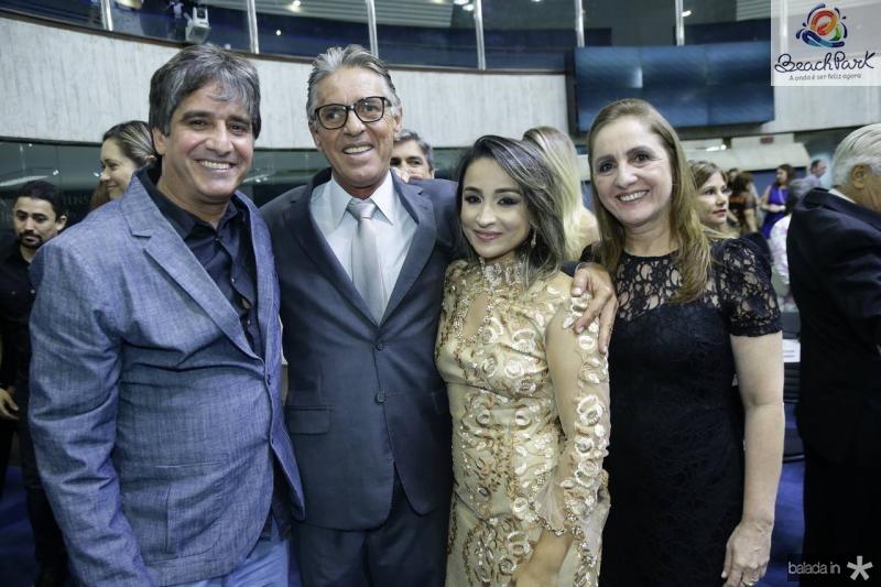 Elano, Paulo, Baby e Heloisa Benevides