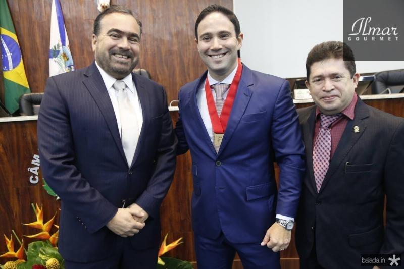 Helio Parente, Thiago Asfor e Ivan Linhares