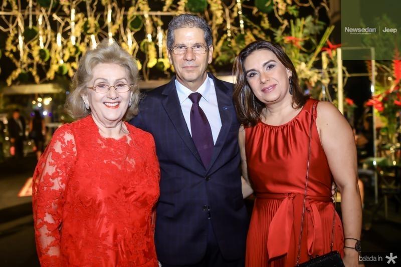 Socorro França, Ramalho Neto e Isabela Ramalho