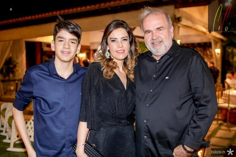 Leonardo, Rosele e Haroldo Diogo