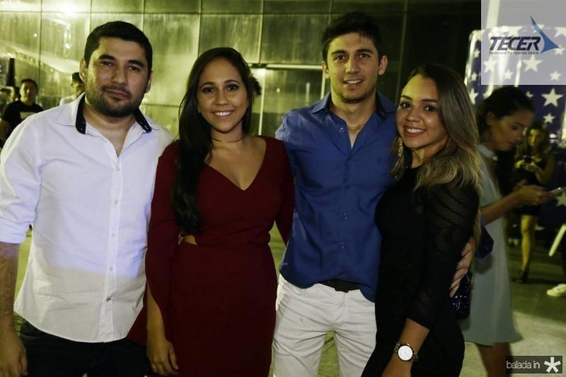 Caio Candido, Thais Mendes, Venancio Pimentel e Lidia Fernandes