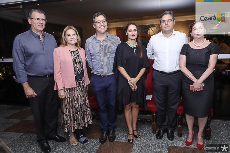 Randal Pompeu, Lenise Rocha, Eduardo Saron, Manuela Bacelar, Edson Queiroz Neto e Fatima Veras