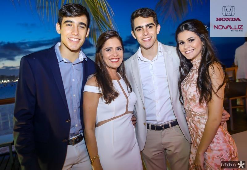 Pedro, Denis e Gabriel Sanford, Lize Bezerra
