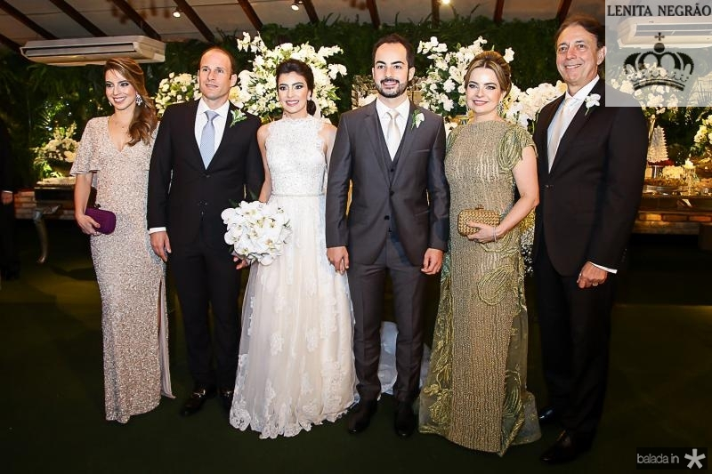 Ticiana e Andre Parente, Beatriz Pntes, Felipe, Daniele e Afranio Barreira