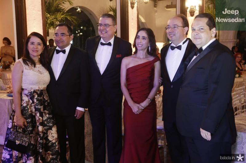 Fatima Goncalves, Jardson Cruz, Luiz Fernando e Jorvania Mota, Weiber Xavier e Marcos Lage