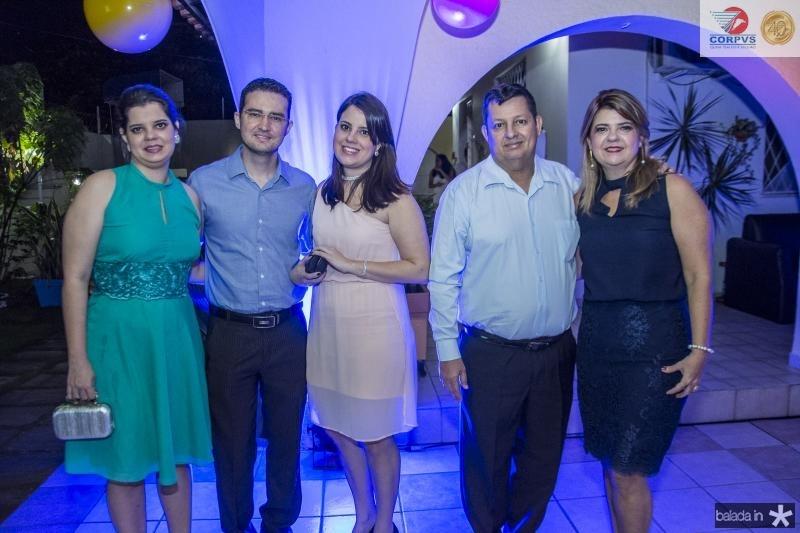 Isabela Aguiar, Thiago Bezerra, Rafaela Parente, Beto Aguiar e Luiziane Aguiar