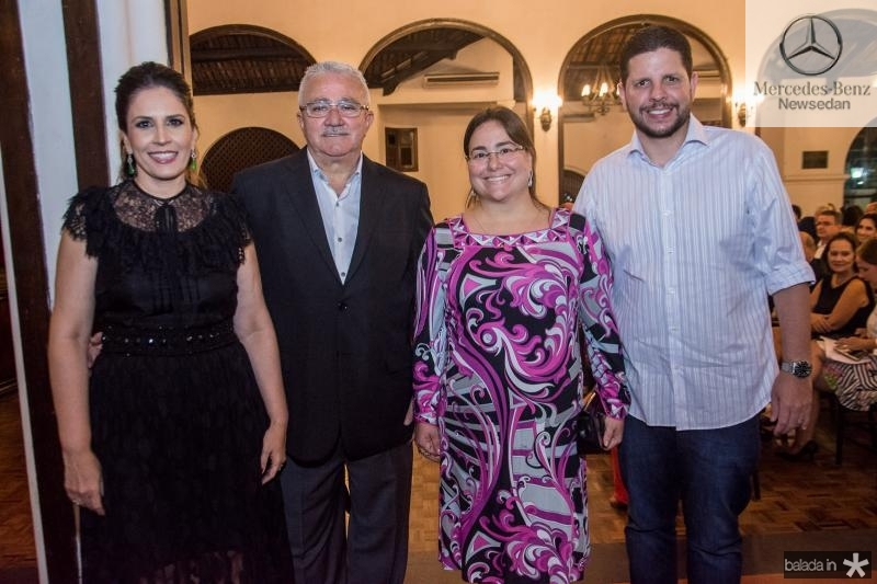 Fabiola Rocha, Alcimor Rocha, Maiara Silva e Romero Silva