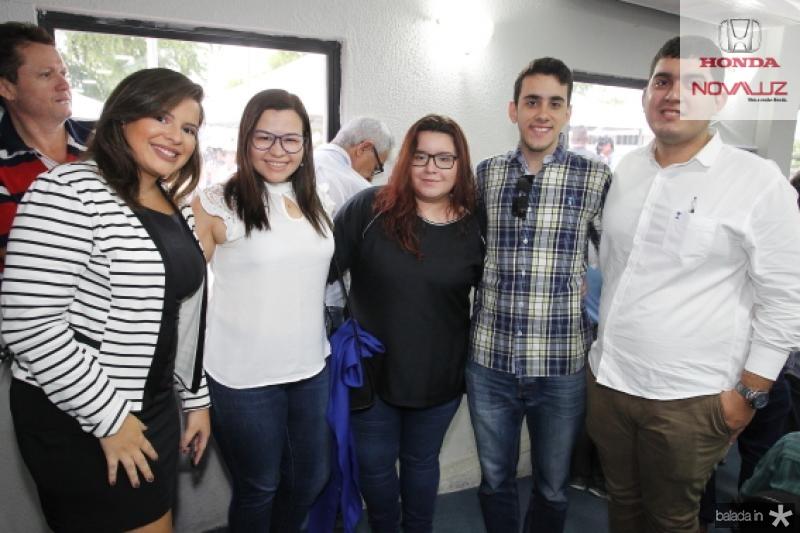 Ana Vitoria, Edite Vidal, Flaira Goes, Andre Braz e Matheus Rodrigues