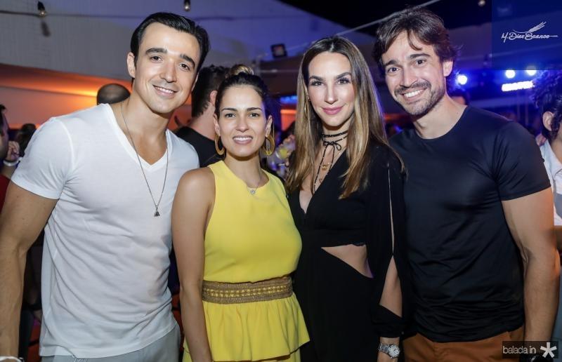 Expedito Machado, Marilia Queiroz, Marcela e Rodrigo Carvalho