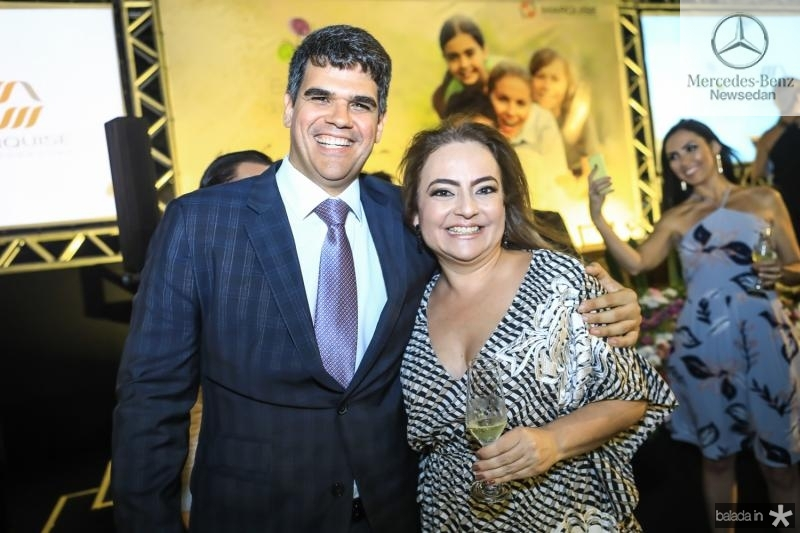 Marcos Ratacazo e Andrea Coelho