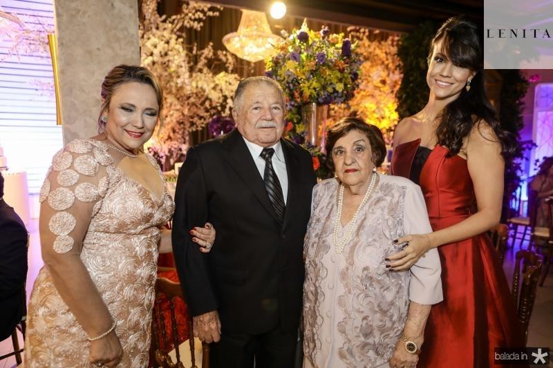 Cristina Cartaxo, Deib Otoch, Eneide Fernandes e Stefane Cartaxo
