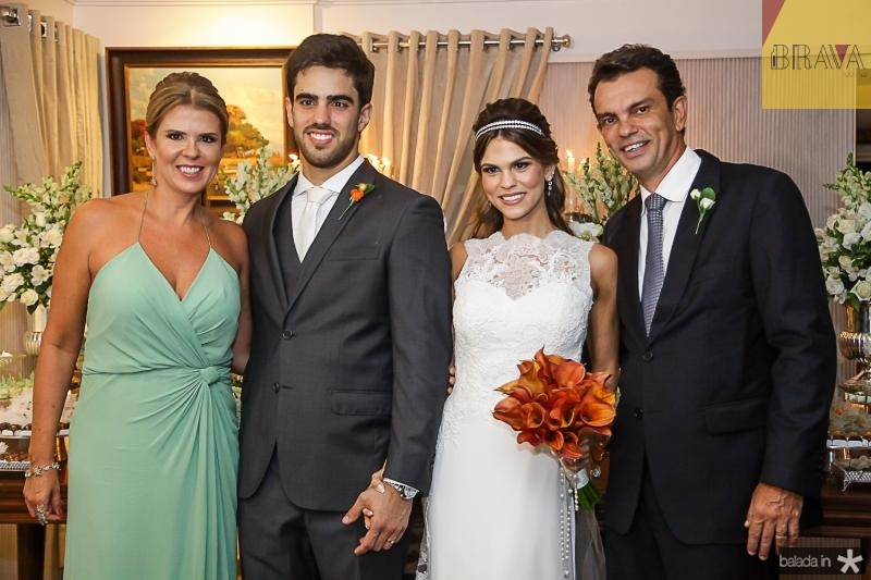Alexandra Pinto, Lucas Ximenes, Mariana e Fred Pinto