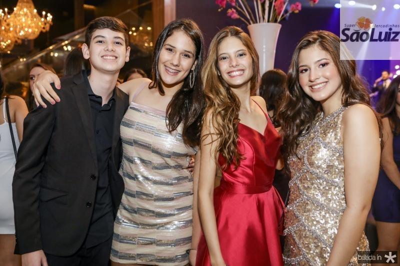 Igor Fernandes, Caroline Geovana, Gabriela Sena e  Geovana Costa
