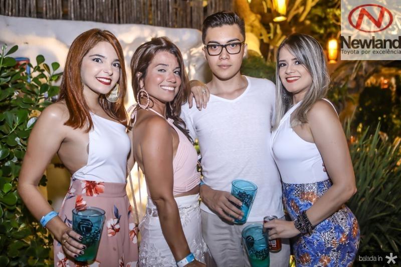 Larissa Passos, Juliana Diogo, Felipe Bruno e Bianca Medeiros