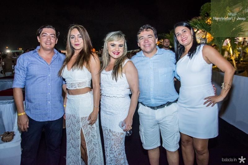 Alberto Bandeira, Gilda Leite, Sonali Fernandes, Nilton Albuquerque e Alene
