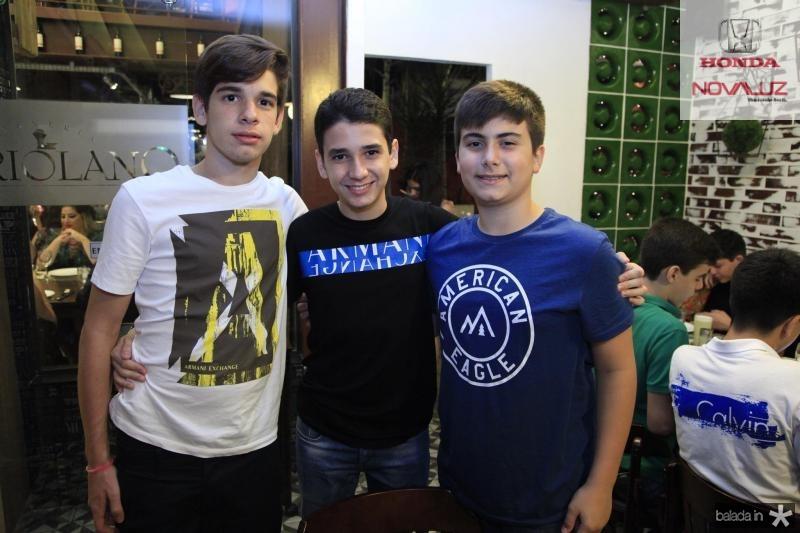 Odecio Tomaz, Diogo Azevedo e Dudu Brigido