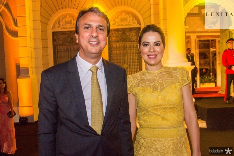 Camilo Santana e Onelia Leite