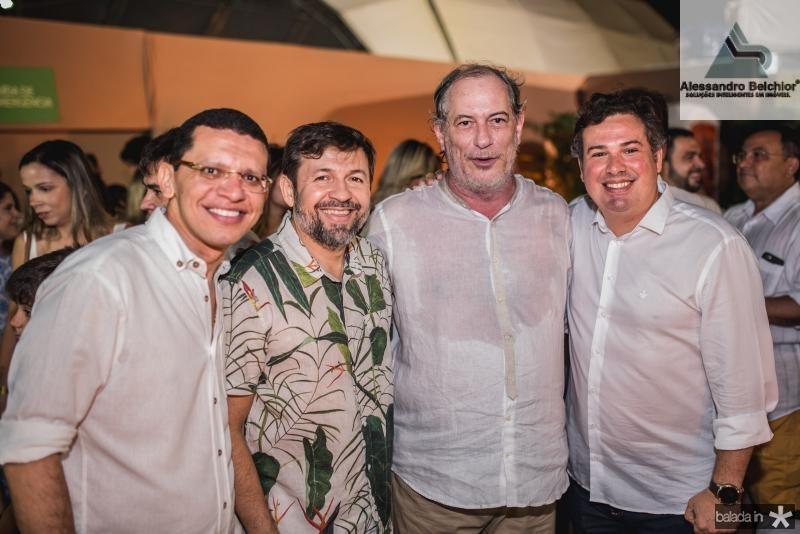 Renato Lima, Élcio Batista, Ciro Gomes e Samuel Dias