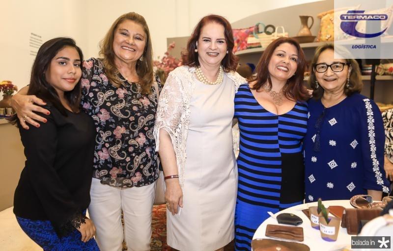 Samea Maciel, Dania Alencar, Ethel Whitehurst, Valesca Viana e Graça Dias