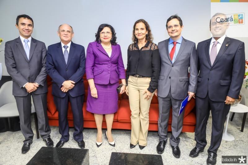 Placido Rios, Gladyson Pontes, Nailde Pinheiro, Izolda Cela, Edilberto Pontes e Marcelo Mota