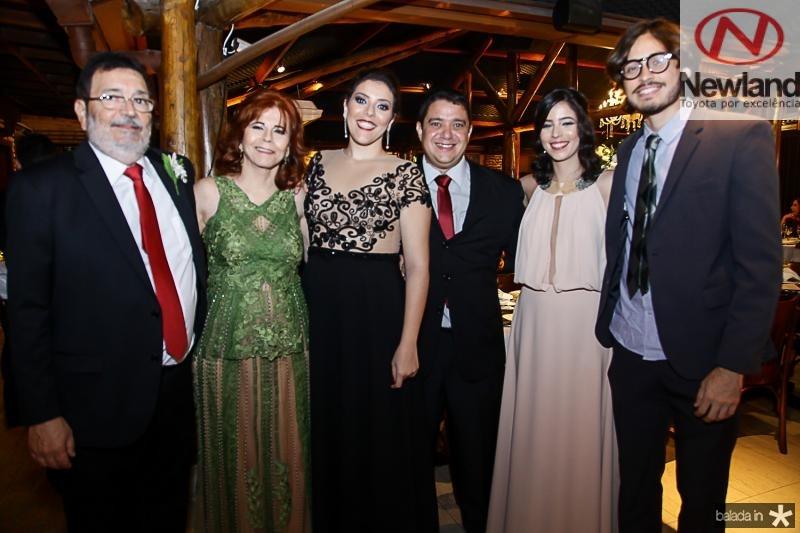 Silvio Jereissati, Silvana Frota, Luciana Tagera, Gabriel Sousa, Carla Tajra e Davi Quitanda