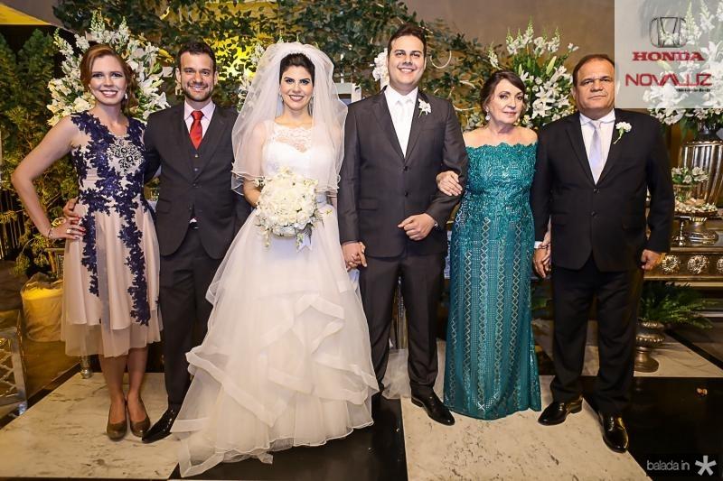 Camila Neves Moreira,  Fabio Cunha Pinto Coelho, Milena Leite, Daniel Lucena, Fatima Neves e Roberto Moreira