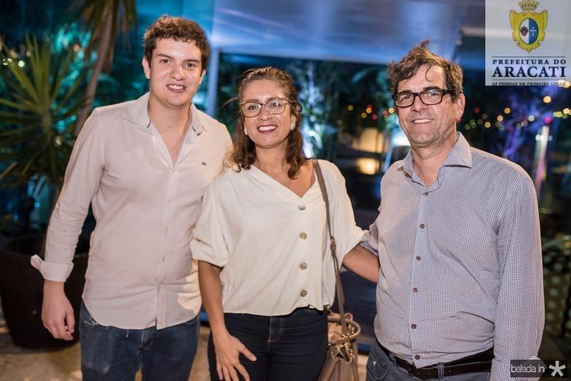 Guilherme Colares, Daniela Ramos e Alexandre Horta