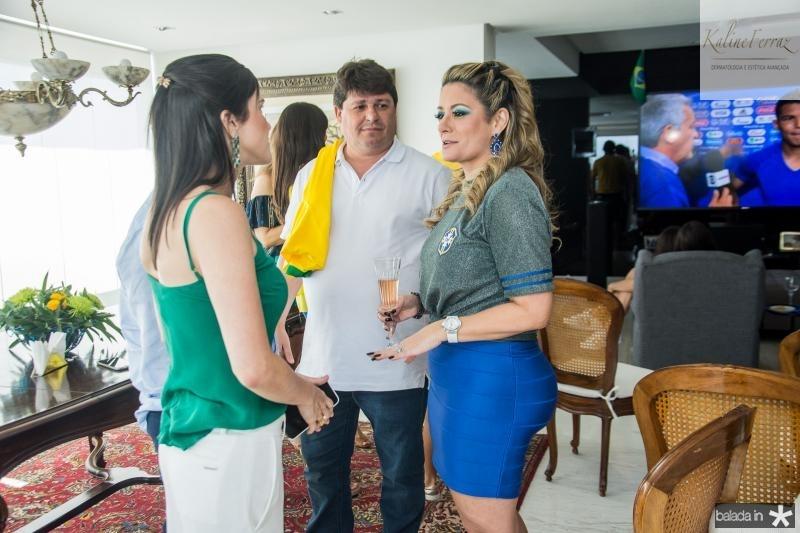 Marilia Vasconcelos, George Lima e Tatiana Luna