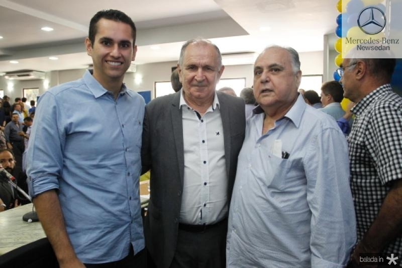 Domingos Neto, Francini Guedes e Roberto Pessoa