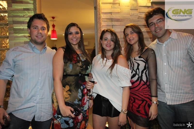 Diego Dantas, Ticiane e Mayara Bezerra, Aline Gomes e Hermano Gurgel