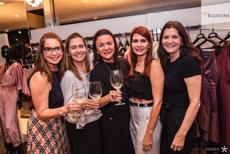 Marcia Andrea, Debora Moreira, Guiomar Feitosa, Lorena Pouchain e Liliana Farias