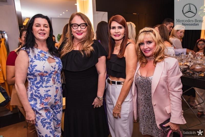 Silvia Fiuza, Luiziane Cavalcante, Lorena Pouchain e Sueli Gaspar