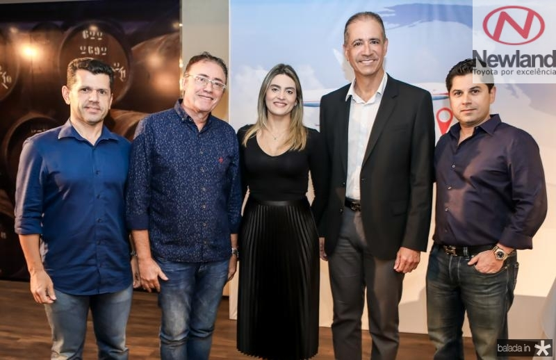 Erick Vasconcelos, Darlan Leite, Denise Carra, Regis Medeiros e Pompeu Vasconcelos