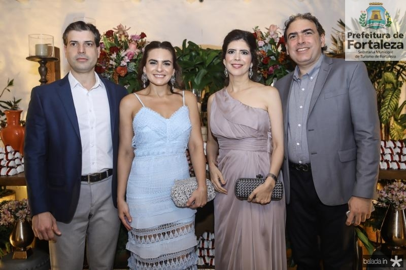 Leonardo e Raquel Melo, Juliana e Breno Melo