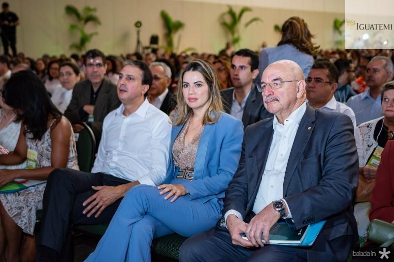Camilo Santana, Onelia Leite e Osmar Terra