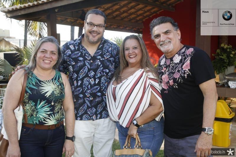 Eveline Sabino, Mauricio Carvalho, Daniela Nepomuceno e Rui Simoes