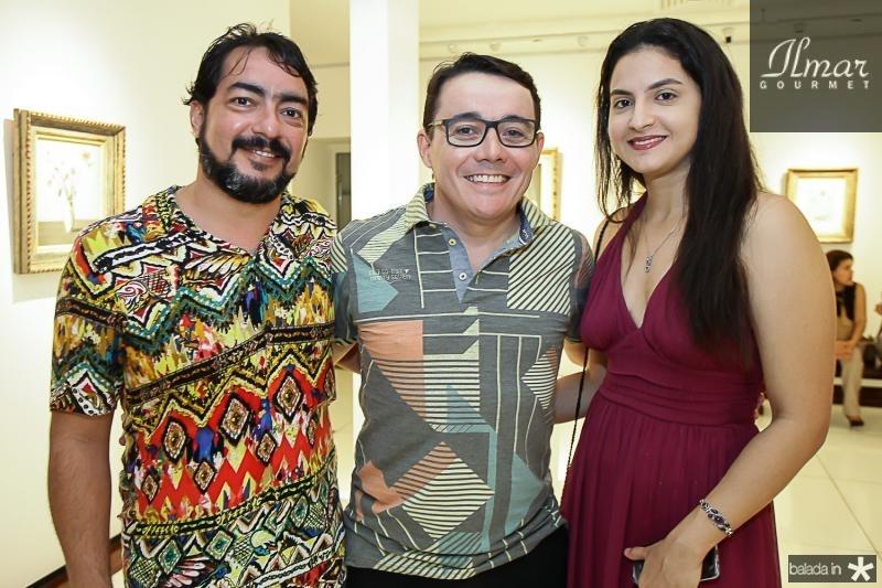 Roger Tabosa, Junior Gomes e Jessica Bastos