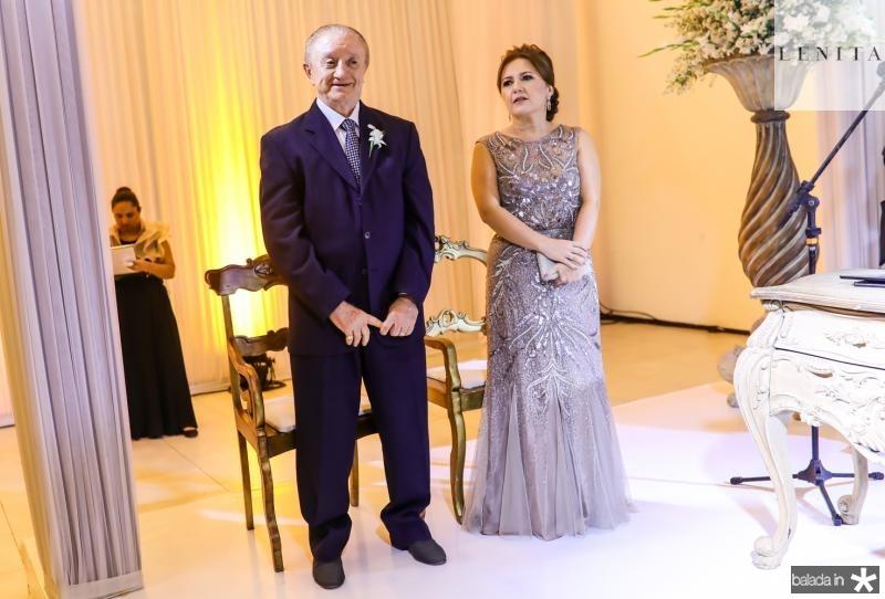 Luiz Camelo e Eveline Peixoto