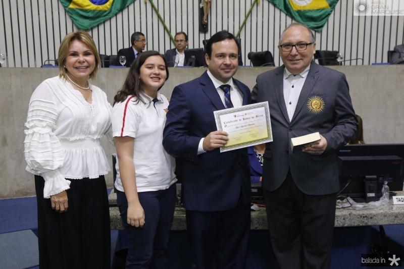 Albaniza Gomes, Clara Ventura, Igor Queiroz e Padre Eugenio