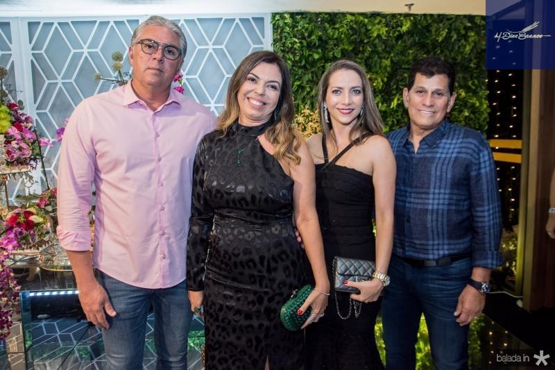 Rildo Cruz, Edinice Cruz, Luciana Graneiro e Bernardo Graneiro