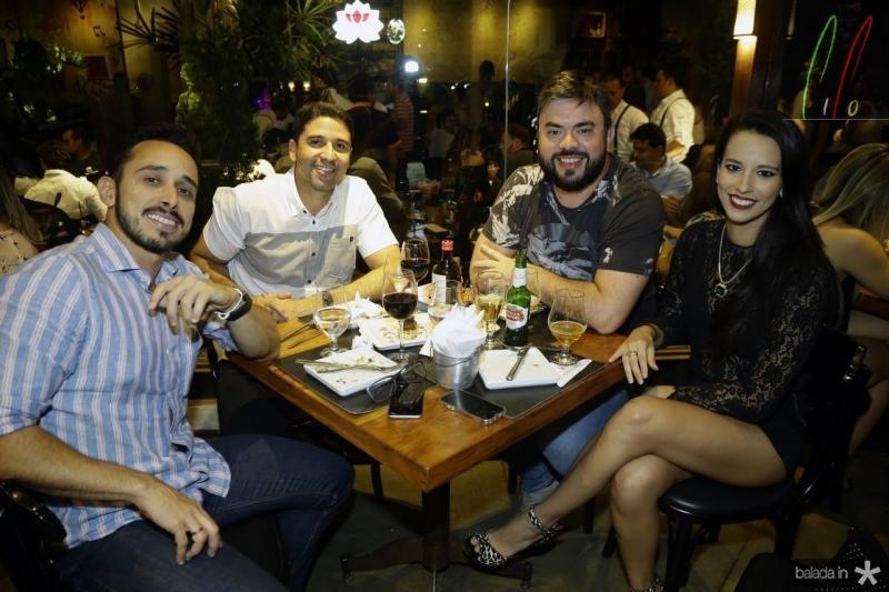 Luiz Nogueira, Luiz Tavares, Eduardo Barreto e Natasha Francklin